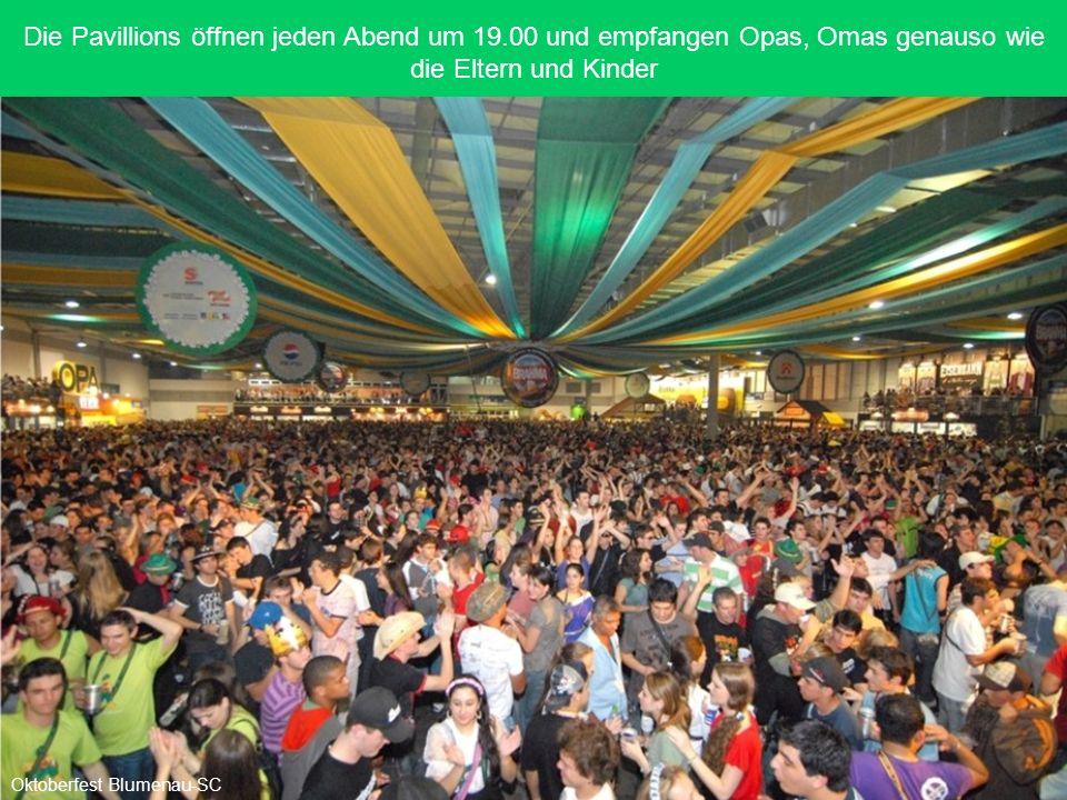 Von Freitag bis Samstag waren täglich etwa 90.000 Gäste auf dem Oktoberfest Oktoberfest Blumenau-SC