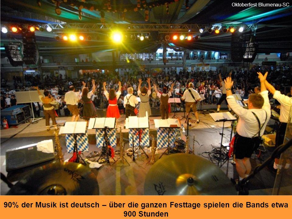 Die Pavillions öffnen jeden Abend um 19.00 und empfangen Opas, Omas genauso wie die Eltern und Kinder Oktoberfest Blumenau-SC