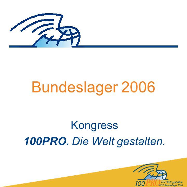 Bundeslager 2006 Kongress 100PRO. Die Welt gestalten.