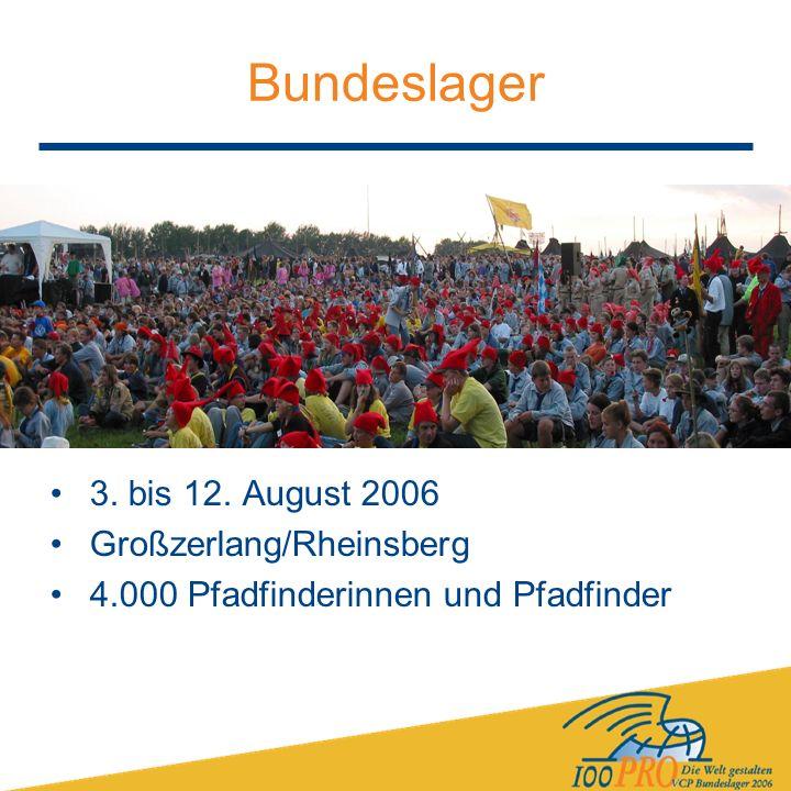 Bundeslager 3. bis 12. August 2006 Großzerlang/Rheinsberg 4.000 Pfadfinderinnen und Pfadfinder