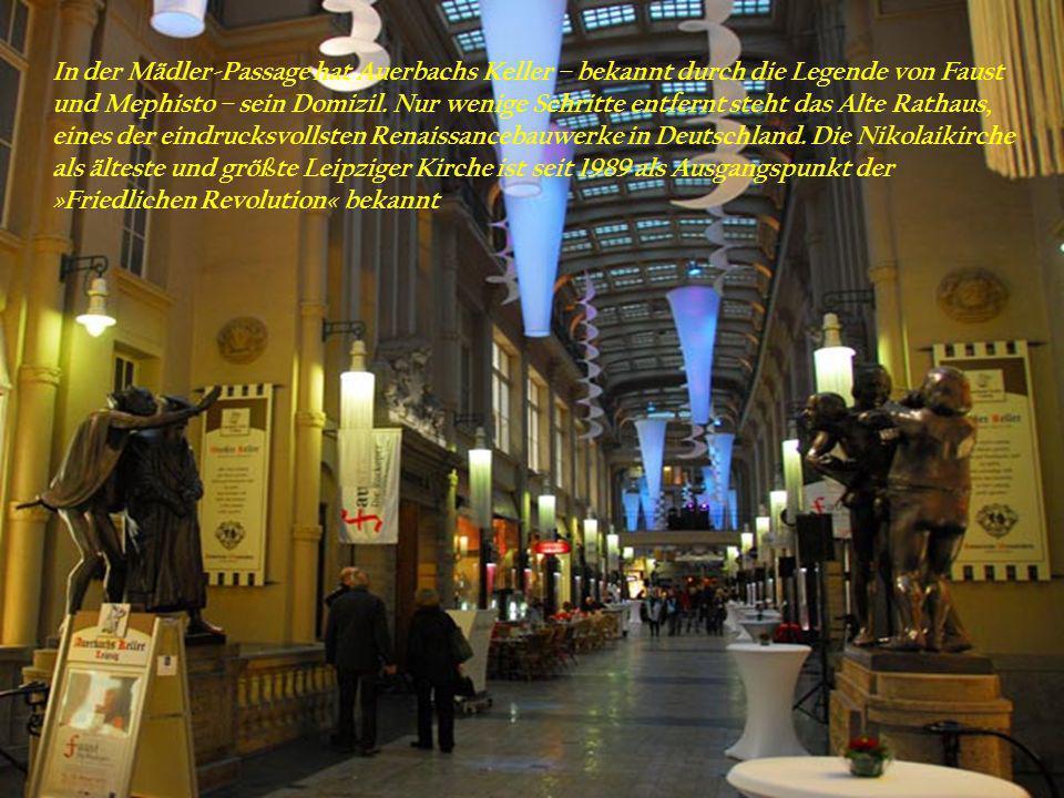 . Leipzig präsentiert sich als dynamische Wirtschafts- und Kulturmetropole in Mitteldeutschland mit einem der größten Kopfbahnhöfe der Welt.
