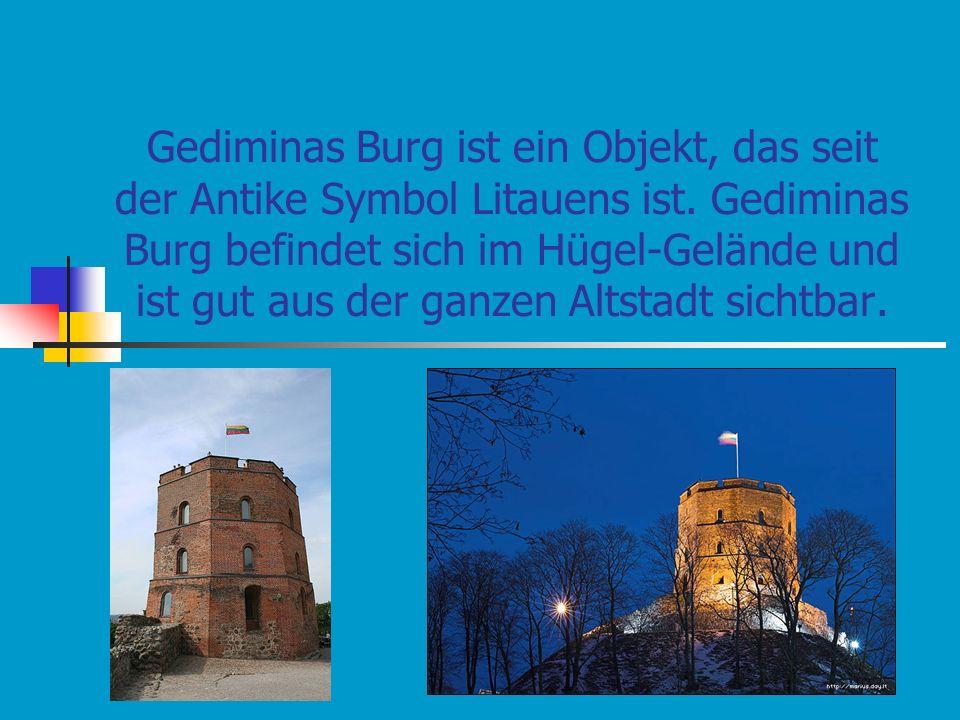 Gediminas Burg ist ein Objekt, das seit der Antike Symbol Litauens ist.