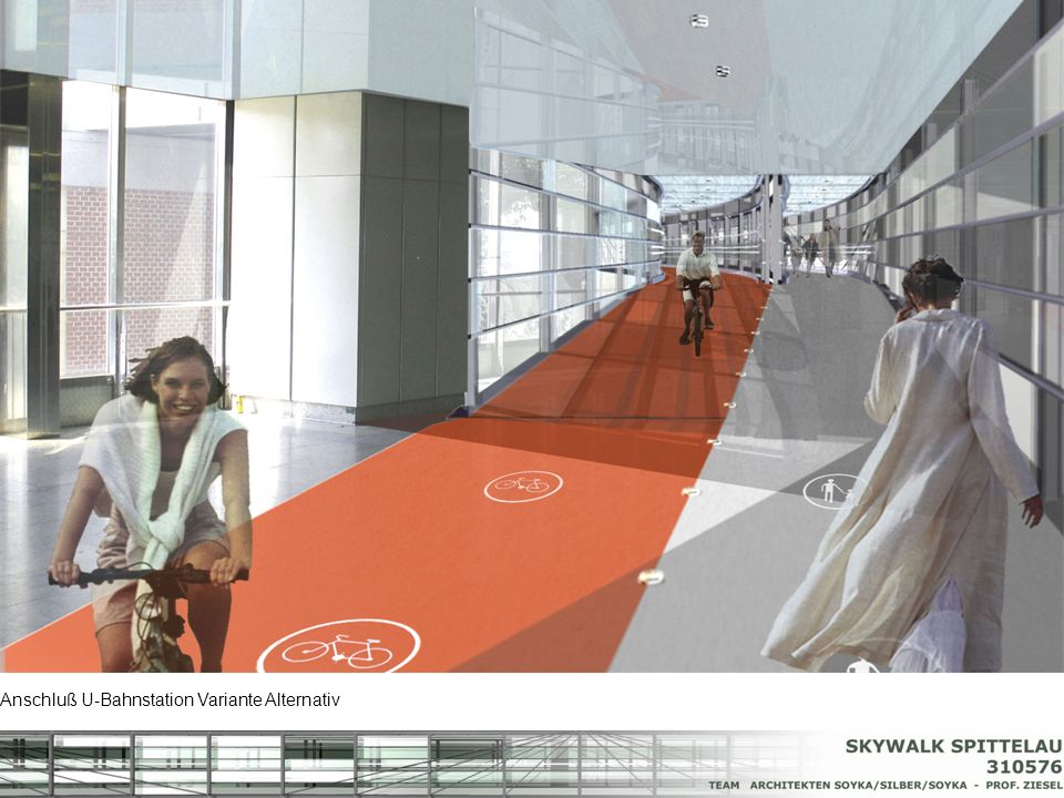 Anschluß U-Bahnstation Variante Alternativ