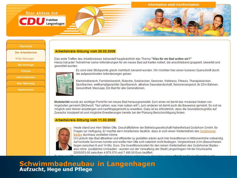 Schwimmbadneubau in Langenhagen Aufzucht, Hege und Pflege