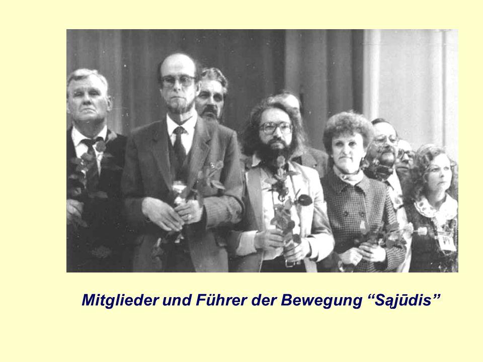 Mitglieder und Führer der Bewegung Sąjūdis
