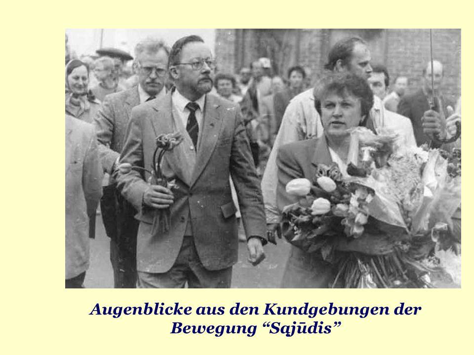 Augenblicke aus den Kundgebungen der Bewegung Sąjūdis