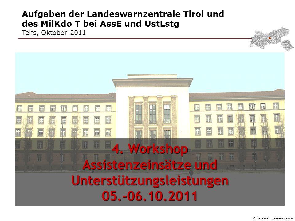 Aufgaben der Landeswarnzentrale Tirol und des MilKdo T bei AssE und UstLstg Telfs, Oktober 2011 © lwz-tirol.
