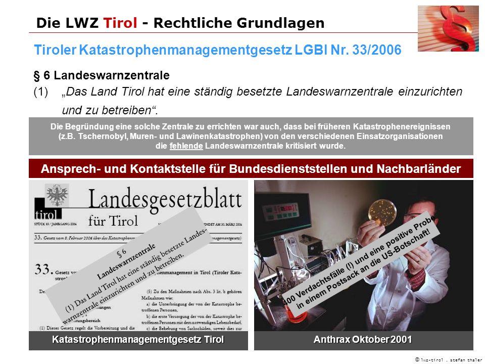 Die LWZ Tirol - Rechtliche Grundlagen © lwz-tirol.