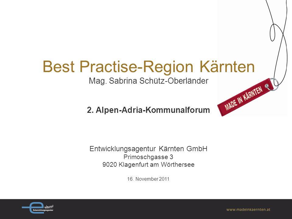 Best Practise-Region Kärnten Mag.Sabrina Schütz-Oberländer 2.