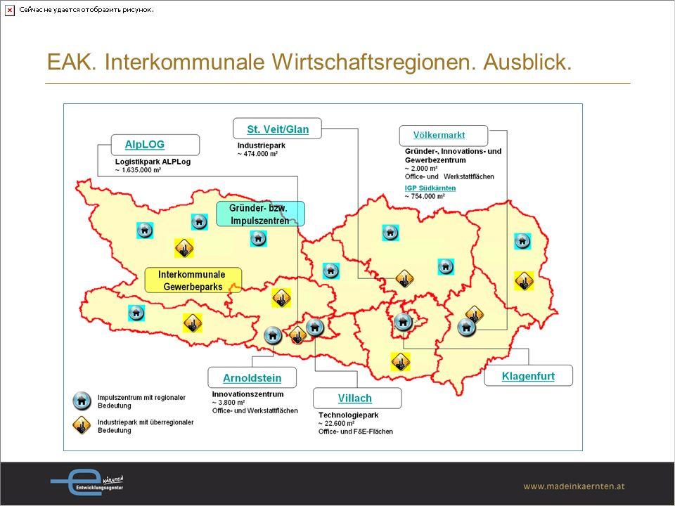 EAK. Interkommunale Wirtschaftsregionen. Ausblick.
