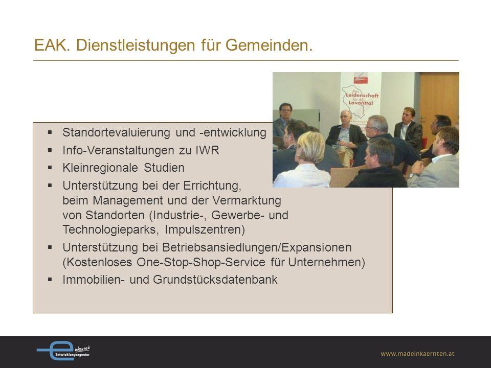 EAK.Dienstleistungen für Gemeinden.