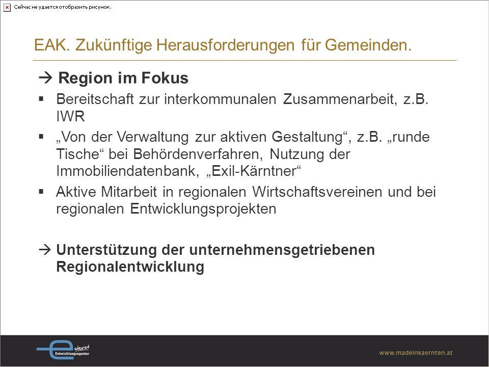 Region im Fokus Bereitschaft zur interkommunalen Zusammenarbeit, z.B.