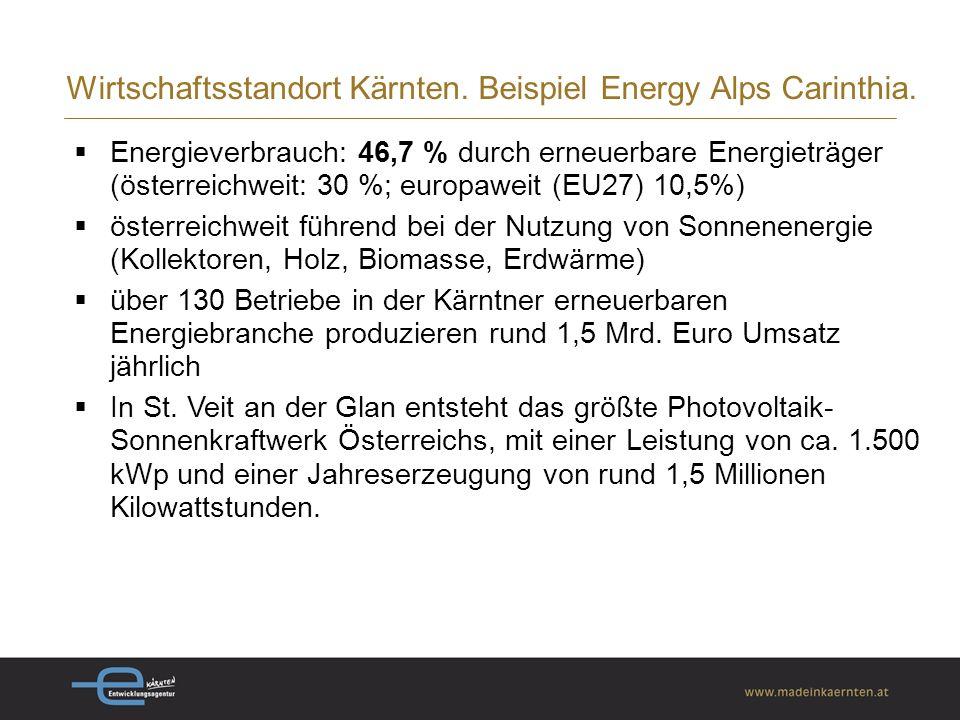 Wirtschaftsstandort Kärnten.Stimmige F&E-Infrastruktur.