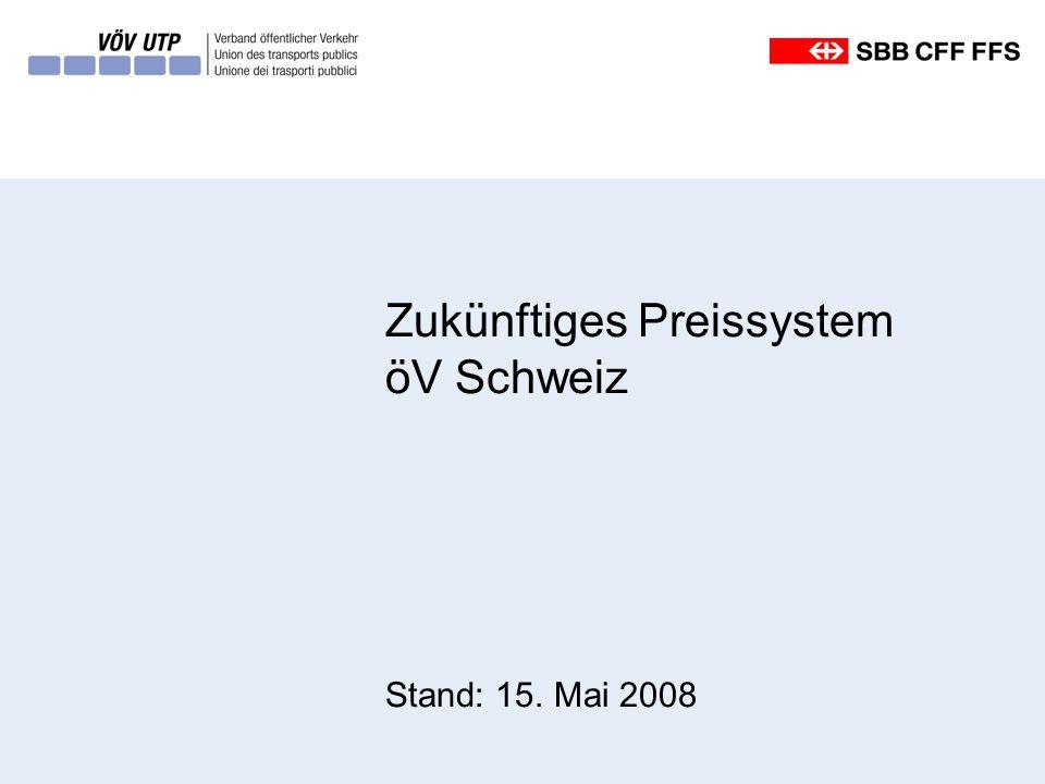 Zukünftiges Preissystem öV Schweiz Stand: 15. Mai 2008