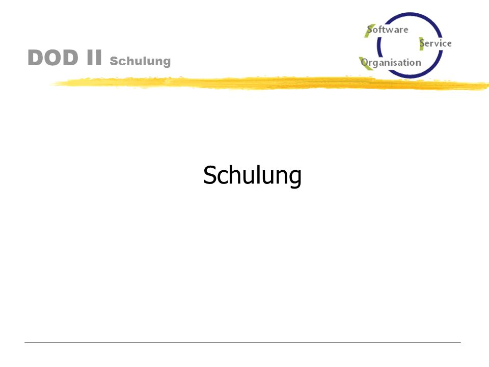 DOD II Lieferumfang Scheduler als tarball dod_install.tar.gz Weboberfläche als tarball dod.tar.gz Datenbank-Erstdaten mittels Dump dod_exp_owner_dod.mysql.gz bzw.