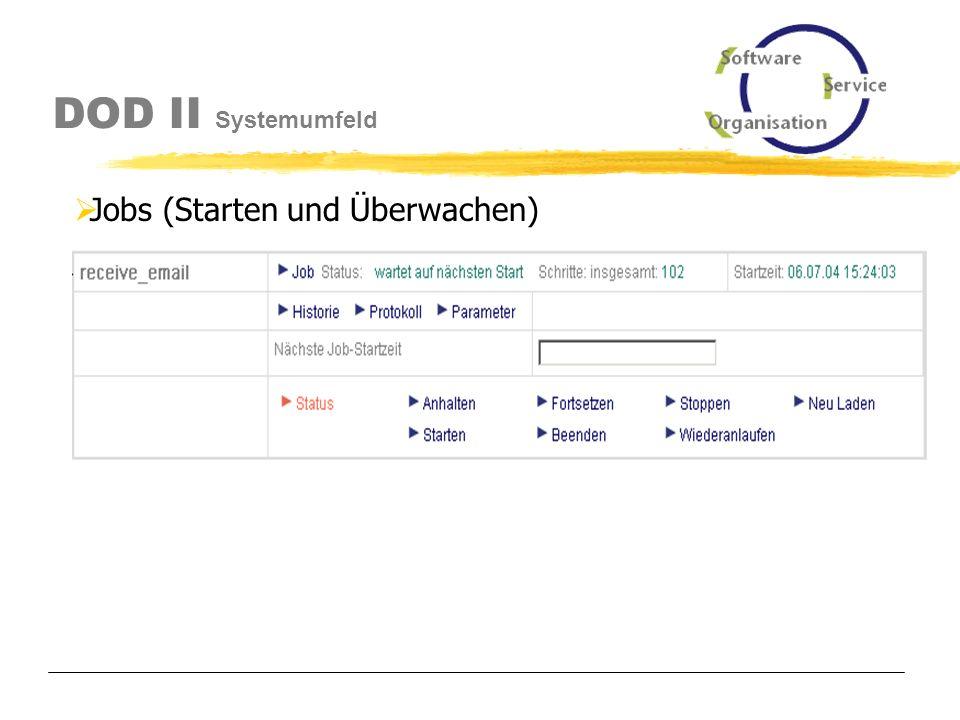 DOD II Systemumfeld Scheduler (Starten und Überwachen)