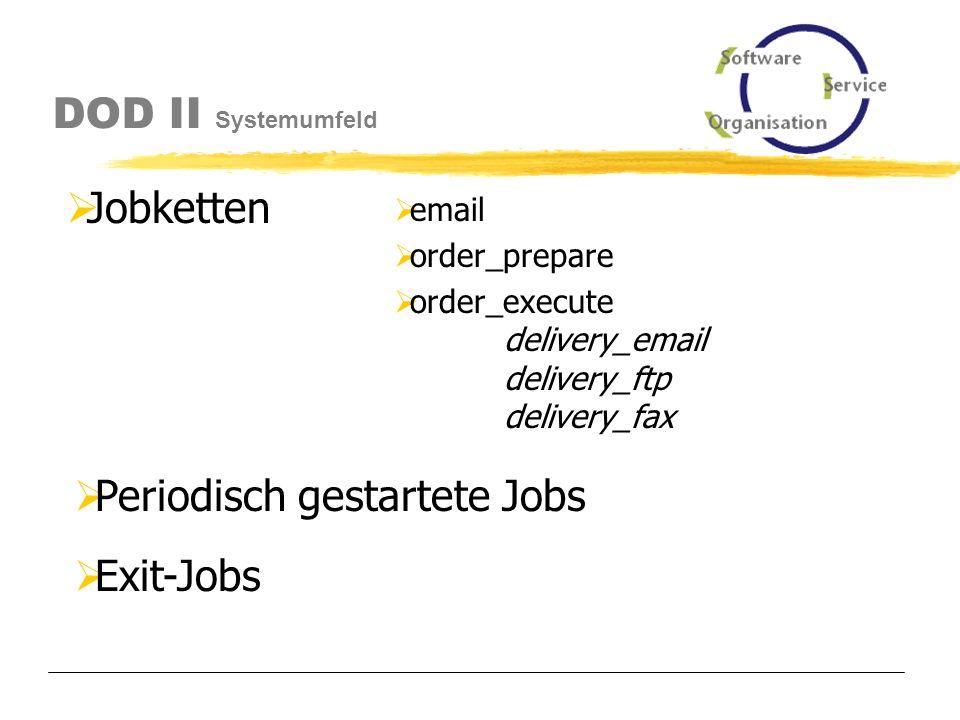 DOD II Systemumfeld Jobs (Starten und Überwachen)