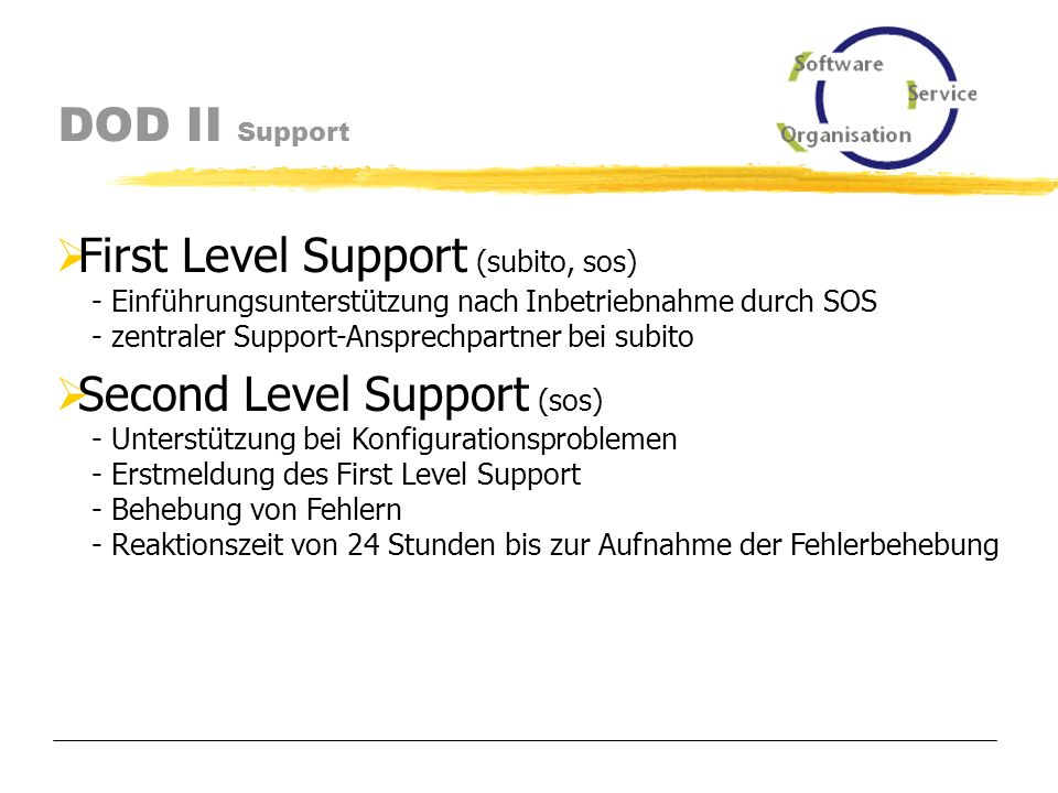 DOD II Support Support