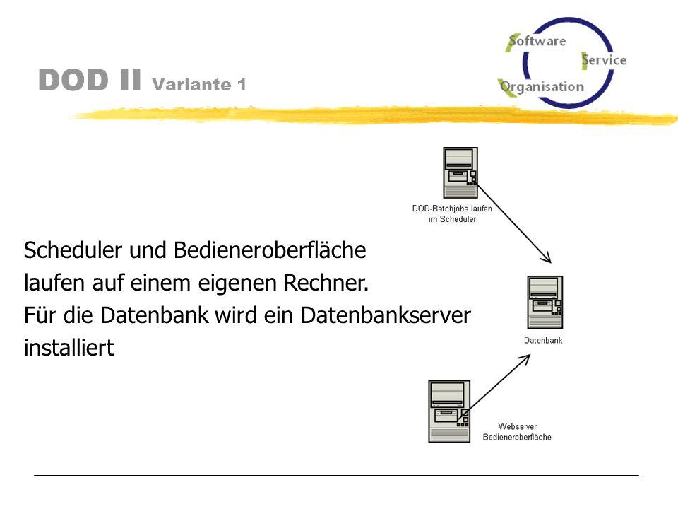 DOD II Solaris / Linux Hohe Hardwarekosten Gegen Solaris spricht