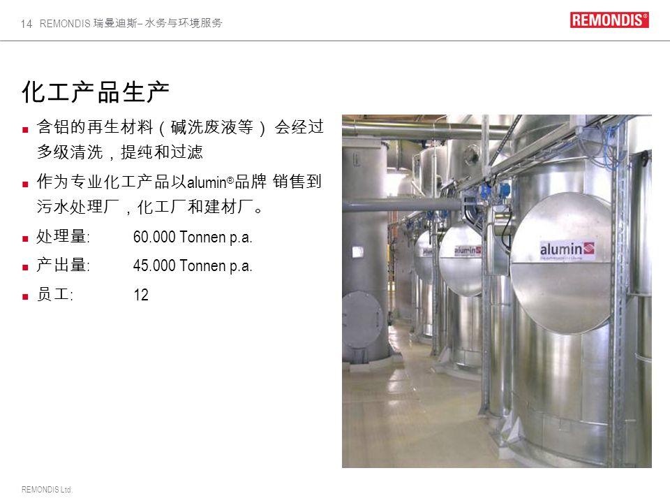 REMONDIS Ltd. REMONDIS – 14 alumin ® :60.000 Tonnen p.a. :45.000 Tonnen p.a. : 12