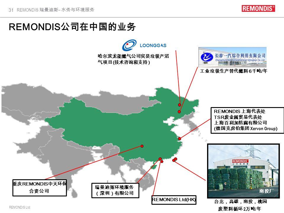 REMONDIS Ltd. REMONDIS – 31 REMONDIS Shanghai 6 / 2 / REMONDIS TSR ( Xervon Group ) REMONDIS Ltd(HK) REMONDIS ( )
