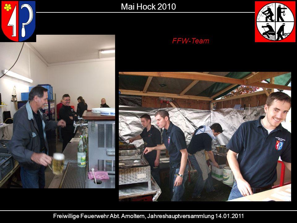 Freiwillige Feuerwehr Abt. Amoltern, Jahreshauptversammlung 14.01.2011 Mai Hock 2010 FFW-Team