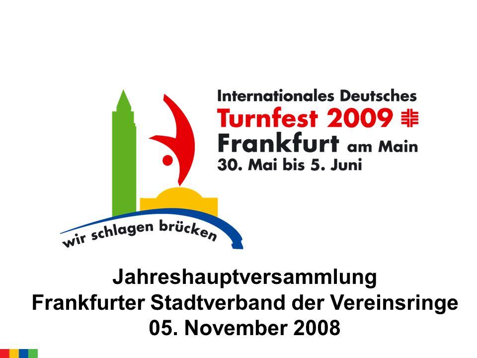 Jahreshauptversammlung Frankfurter Stadtverband der Vereinsringe 05. November 2008