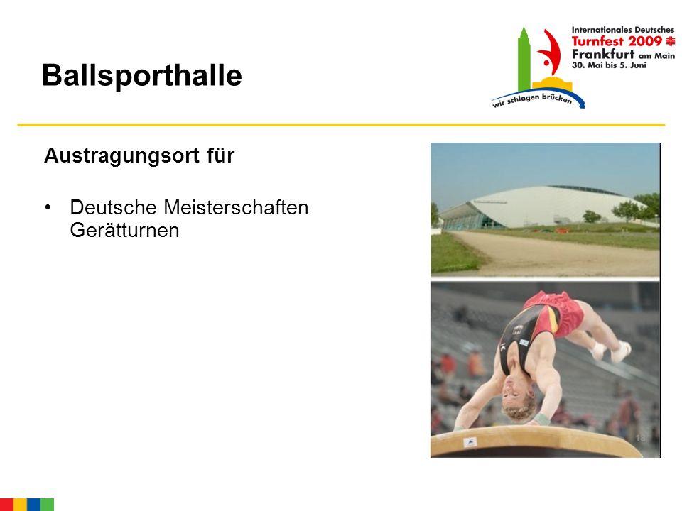Ballsporthalle Austragungsort für Deutsche Meisterschaften Gerätturnen