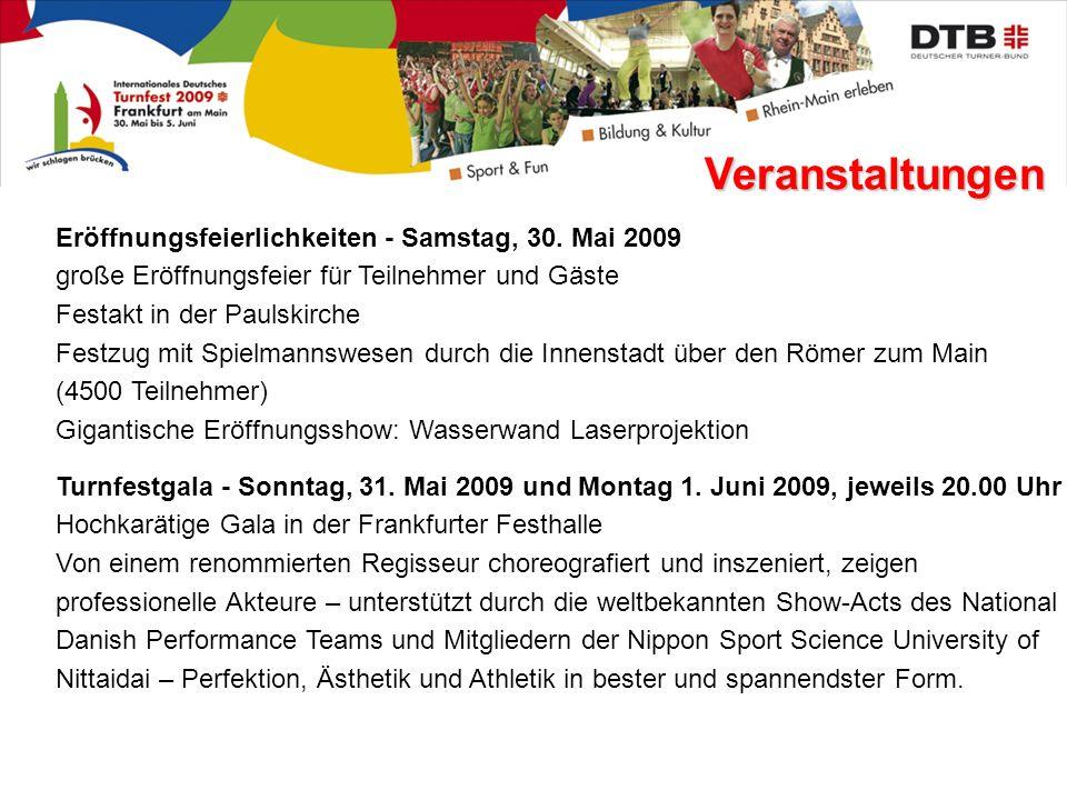 Veranstaltungen Eröffnungsfeierlichkeiten - Samstag, 30.