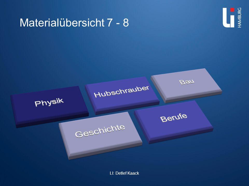LI: Detlef Kaack Materialübersicht 7 - 8