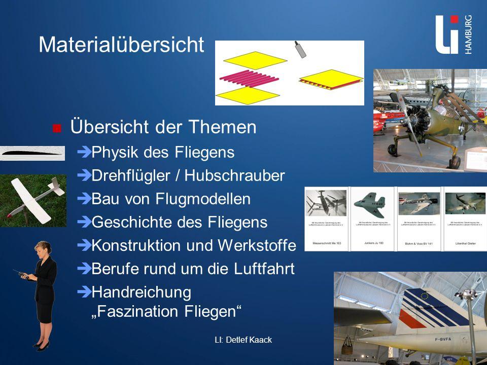LI: Detlef Kaack Themen Hubschrauber Drehflügler 7-8 Drehflügler 9-10 Drehflügler Lehrerheft Diese Boxen sind interessant für den Physikunterricht, Naturwissenschaften, Natur und Technik.