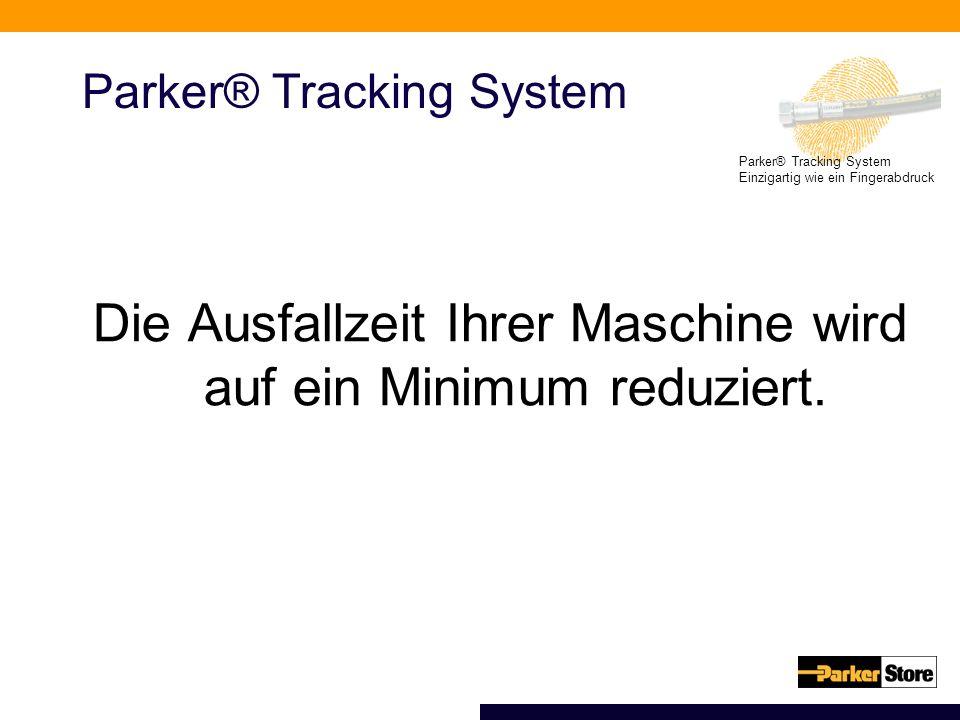 Einzigartig wie ein Fingerabdruck Parker® Tracking System Die Ausfallzeit Ihrer Maschine wird auf ein Minimum reduziert.