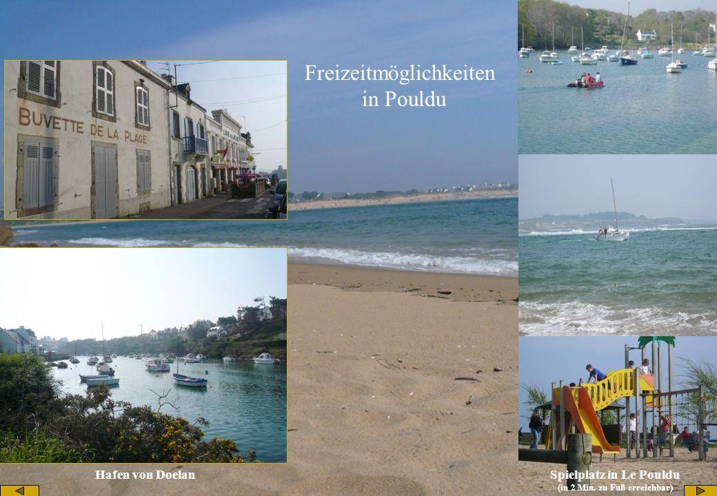 Hafen von Doelan Freizeitmöglichkeiten in Pouldu Spielplatz in Le Pouldu (in 2 Min. zu Fuß erreichbar)