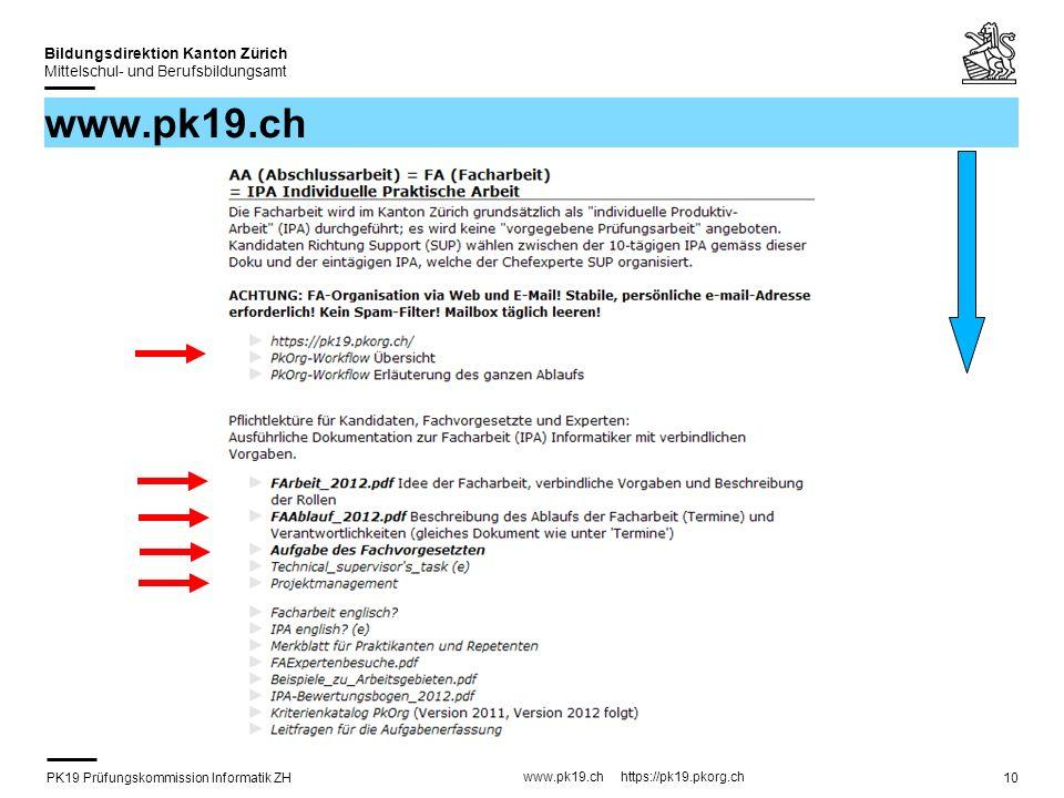 PK19 Prüfungskommission Informatik ZH www.pk19.ch https://pk19.pkorg.ch Bildungsdirektion Kanton Zürich Mittelschul- und Berufsbildungsamt 10 www.pk19