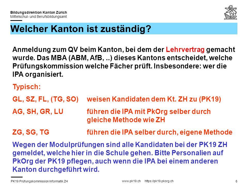 PK19 Prüfungskommission Informatik ZH www.pk19.ch https://pk19.pkorg.ch Bildungsdirektion Kanton Zürich Mittelschul- und Berufsbildungsamt 27 Facharbeit: IPA-Bericht Projektmanagement.