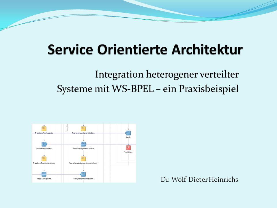 Integration heterogener verteilter Systeme mit WS-BPEL – ein Praxisbeispiel Dr. Wolf-Dieter Heinrichs