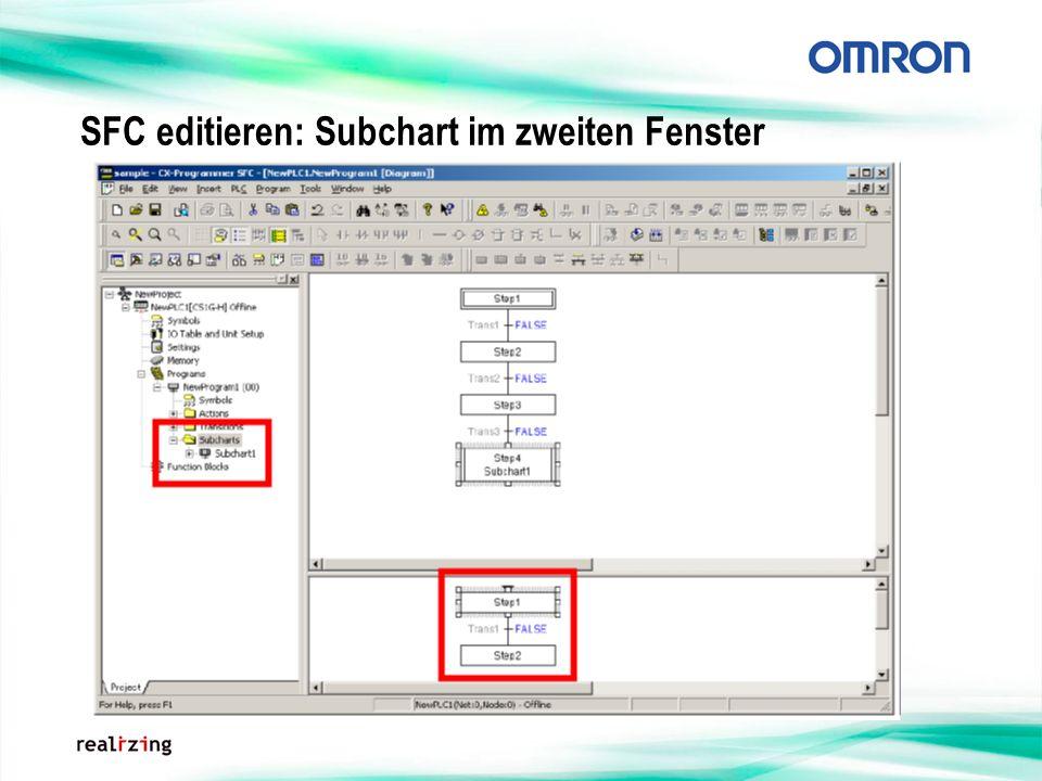 SFC editieren: Subchart im zweiten Fenster