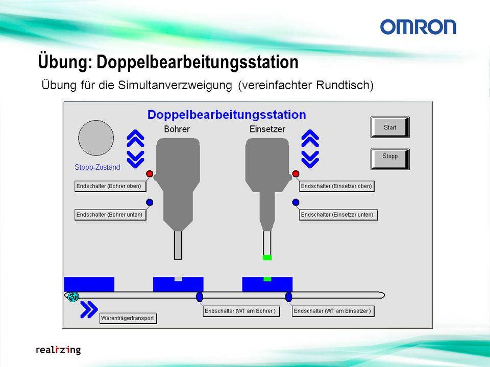 Übung: Doppelbearbeitungsstation Übung für die Simultanverzweigung (vereinfachter Rundtisch)