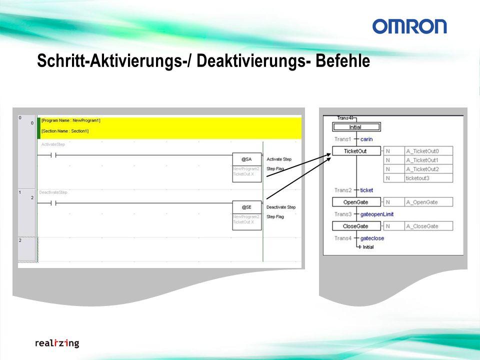 Schritt-Aktivierungs-/ Deaktivierungs- Befehle