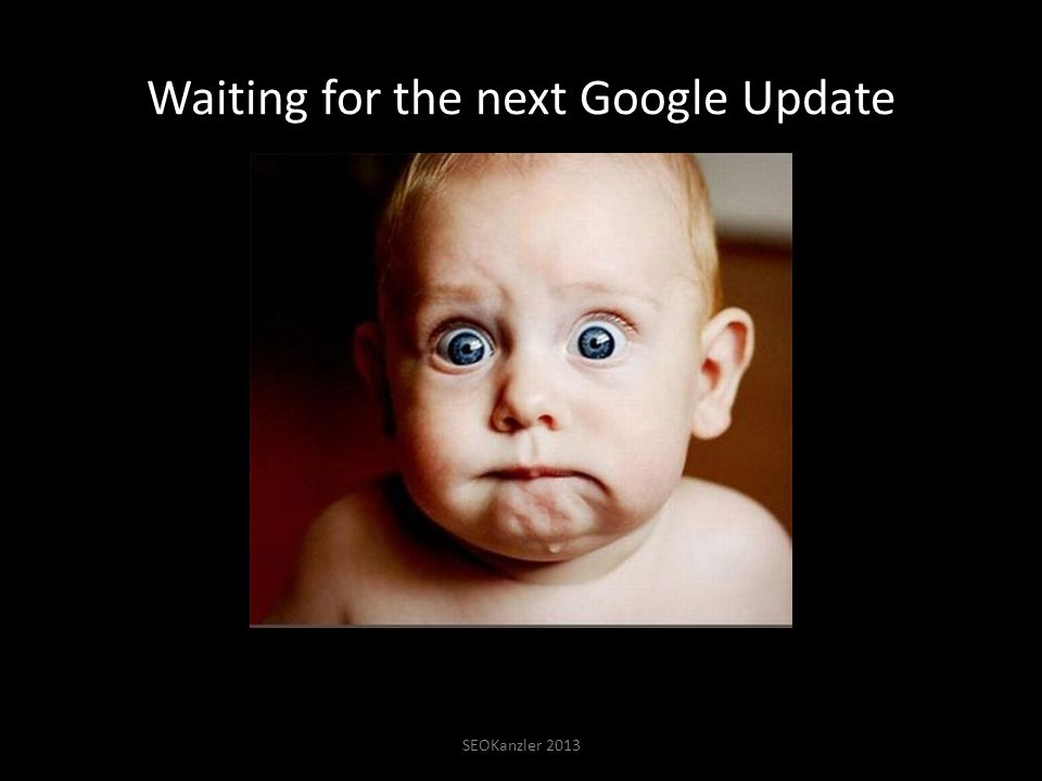 Waiting for the next Google Update SEOKanzler 2013