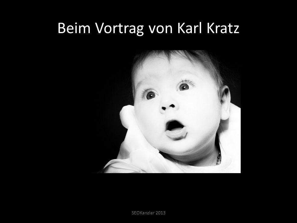 Beim Vortrag von Karl Kratz SEOKanzler 2013
