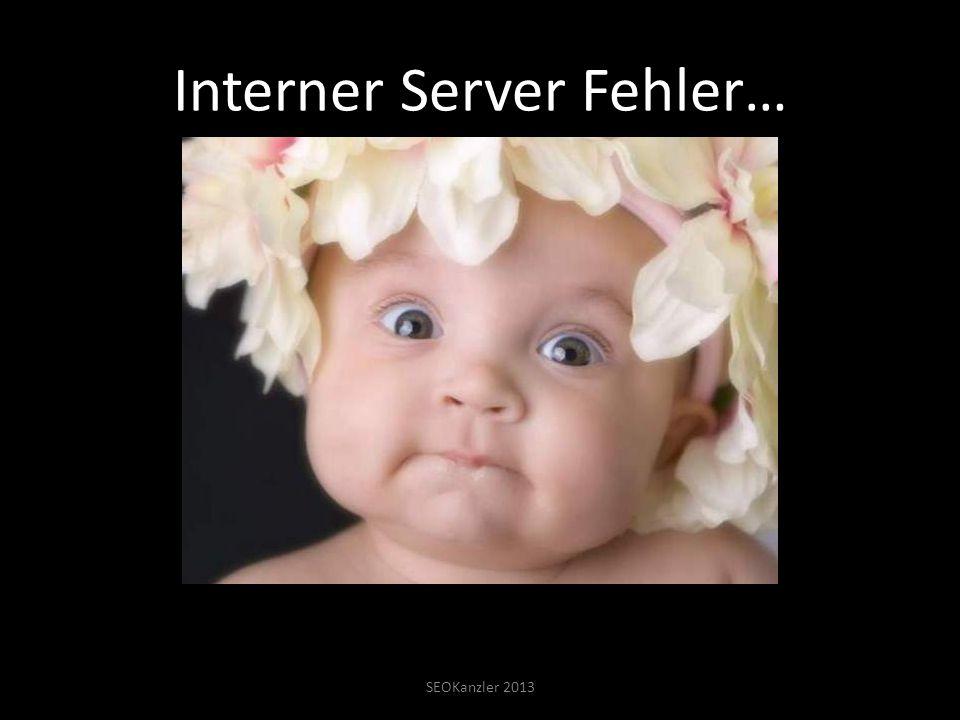 Interner Server Fehler… SEOKanzler 2013