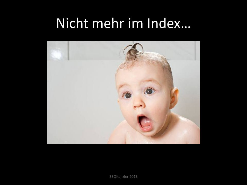 Nicht mehr im Index… SEOKanzler 2013