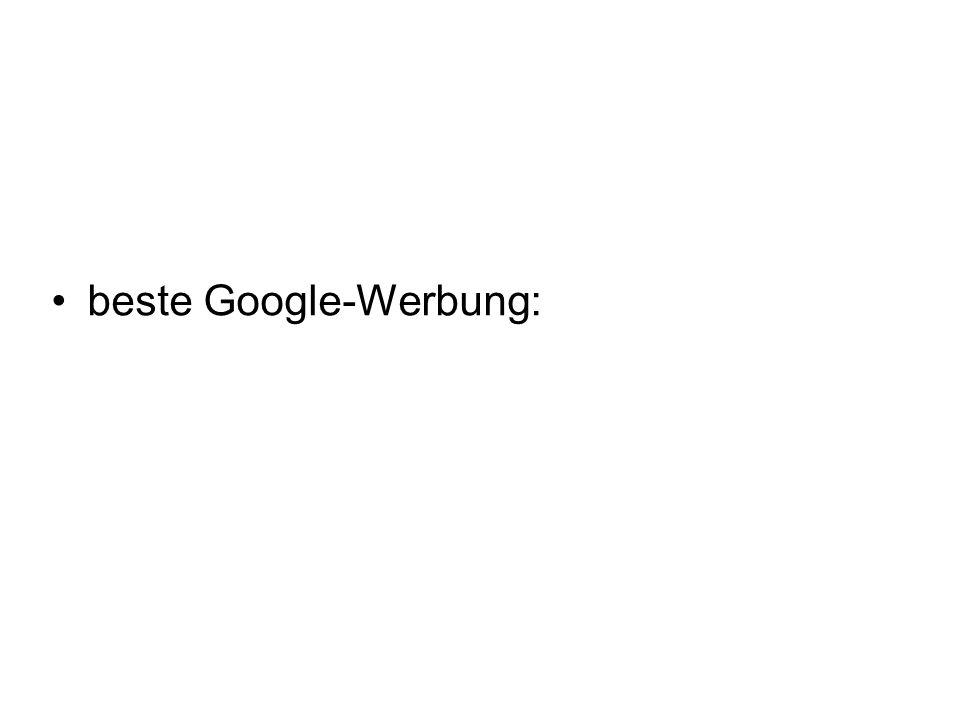 beste Google-Werbung: