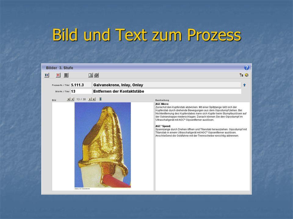 Bild und Text zum Prozess