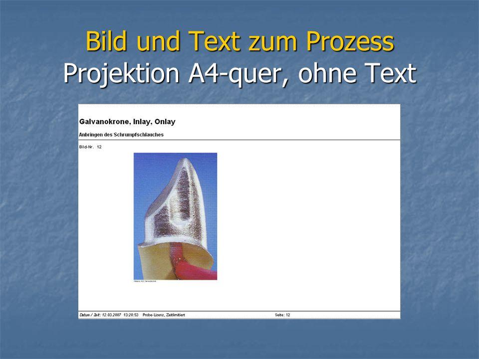 Bild und Text zum Prozess Projektion A4-quer, ohne Text