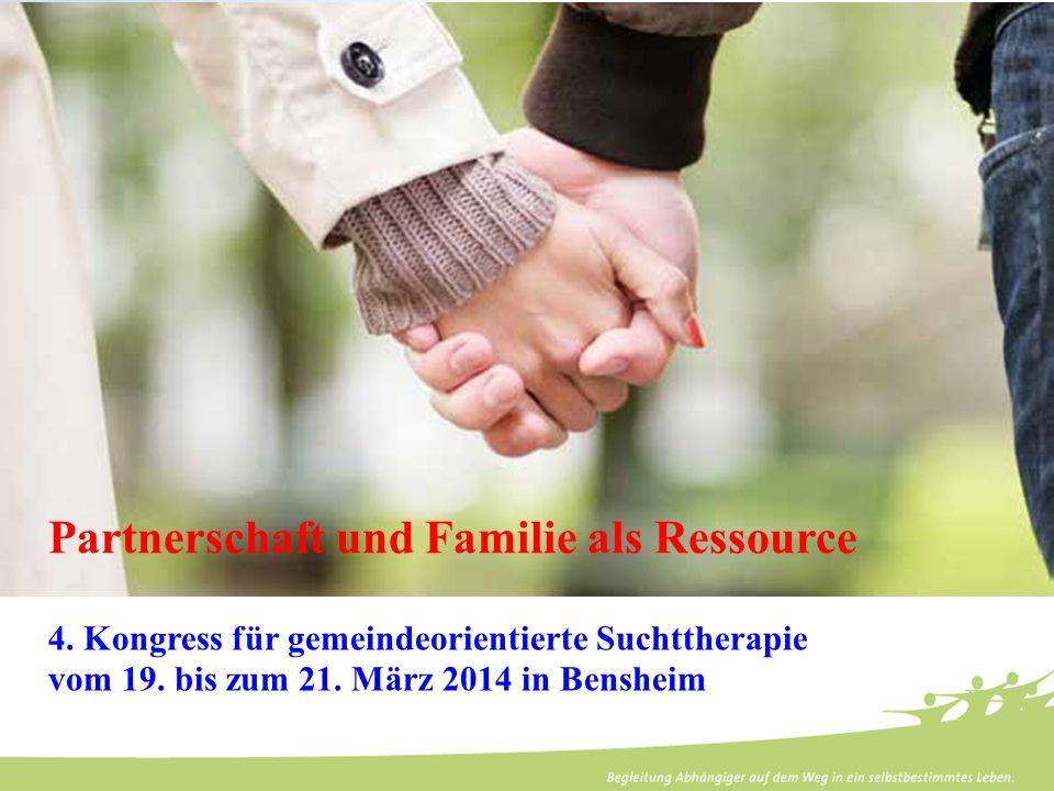 Klinik für Psychiatrie und Psychotherapie Bethel -. 4. Kongress für gemeindeorientierte Suchttherapie vom 19. bis zum 21. März 2014 in Bensheim Partne