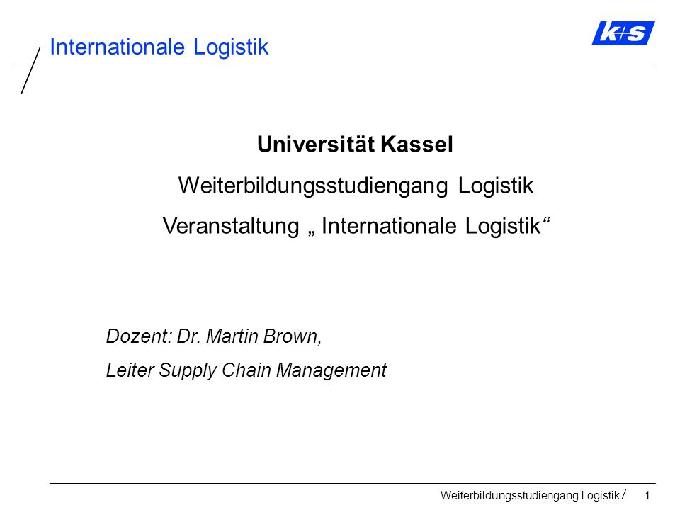 Weiterbildungsstudiengang Logistik102 Internationale Logistik Akkreditive