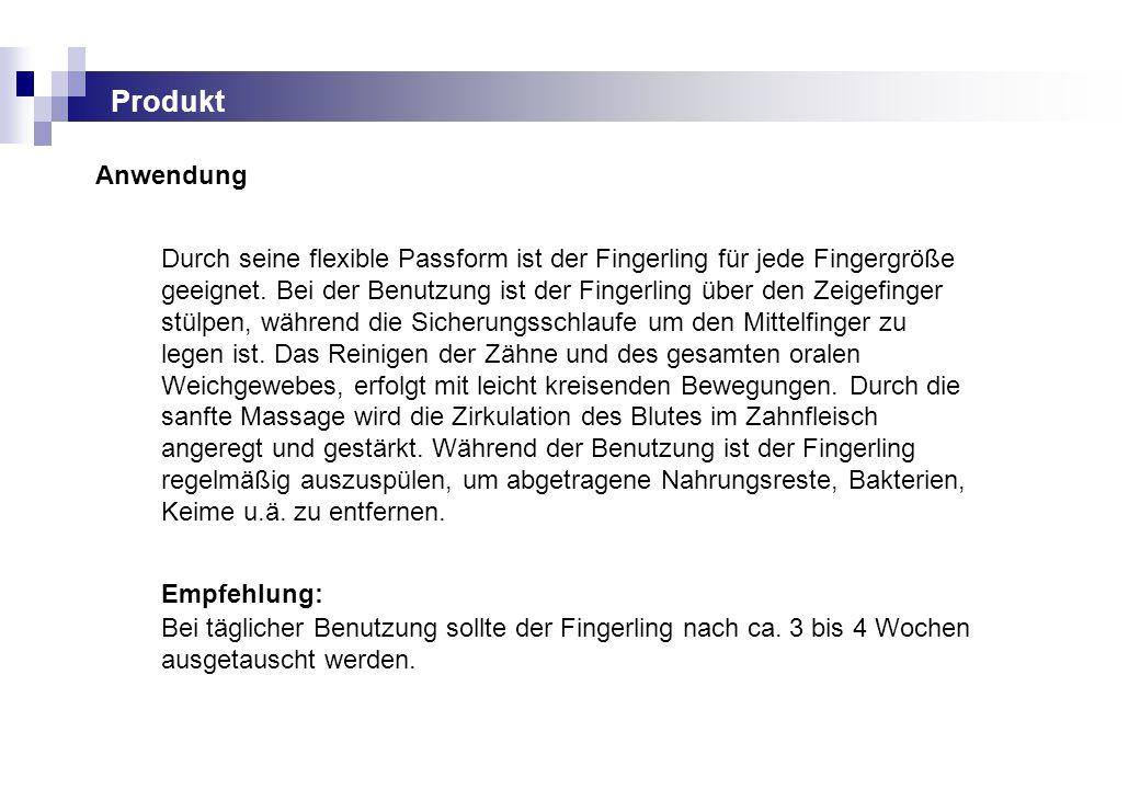 Produkt Anwendung Durch seine flexible Passform ist der Fingerling für jede Fingergröße geeignet.