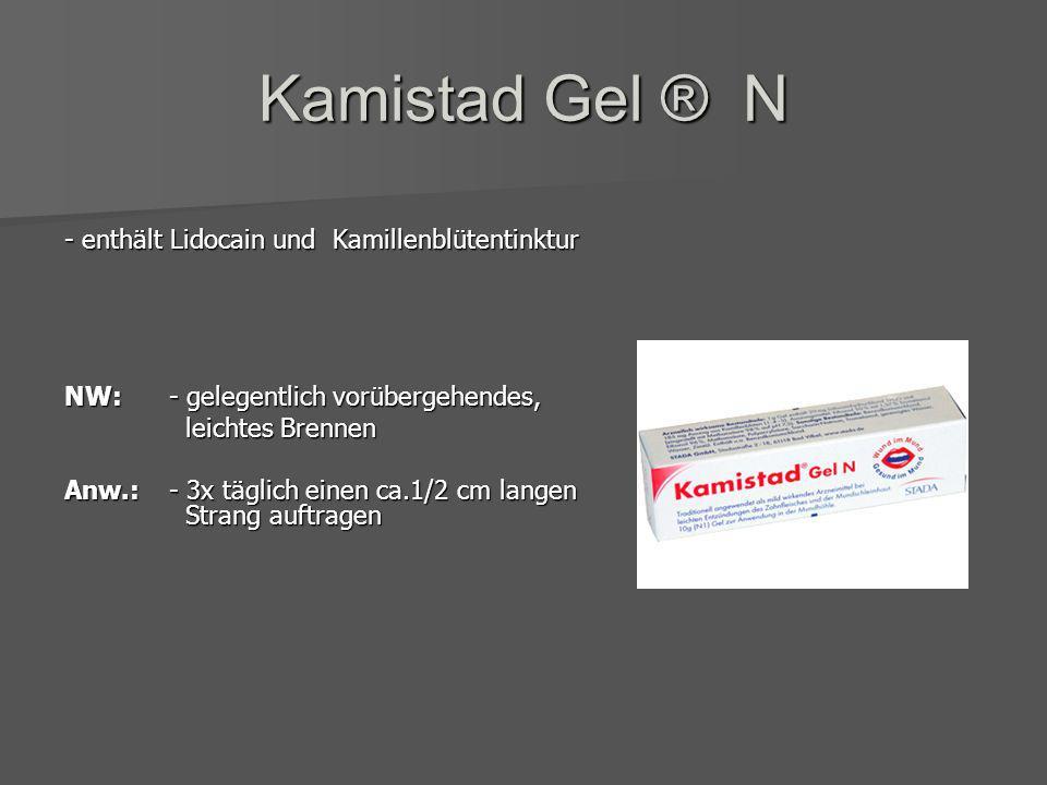 Kamillan Supra® - enthält Auszug aus Kamillenblüten & Schafgarbe Anw.: - Mundspülen und Gurgeln: mehrmals tgl. 20-30 Tropfen auf ½ Glas Wasser - Einsp